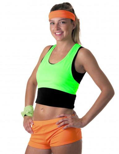 Fluo groene top voor vrouwen