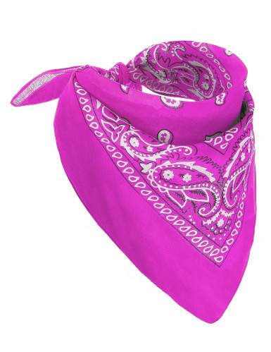 Fluo roze bandana voor volwassenen