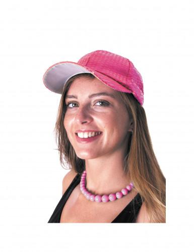 Grote roze kralenketting voor volwassenen-1