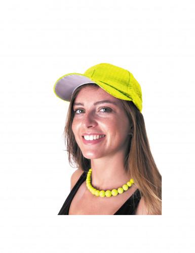 Grote gele kralenketting voor volwassenen-1