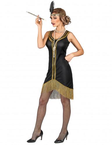 Zwart en goudkleurig charleston kostuum voor vrouwen-1