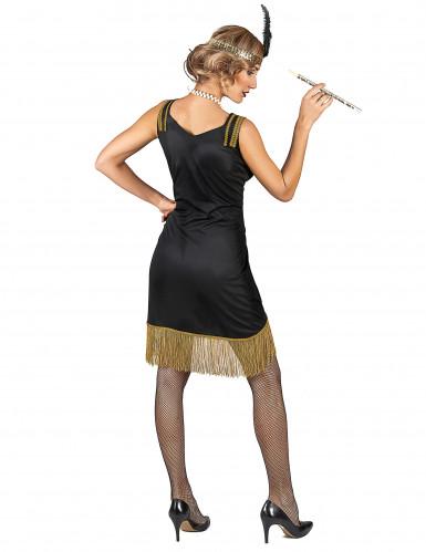 Zwart en goudkleurig charleston kostuum voor vrouwen-2