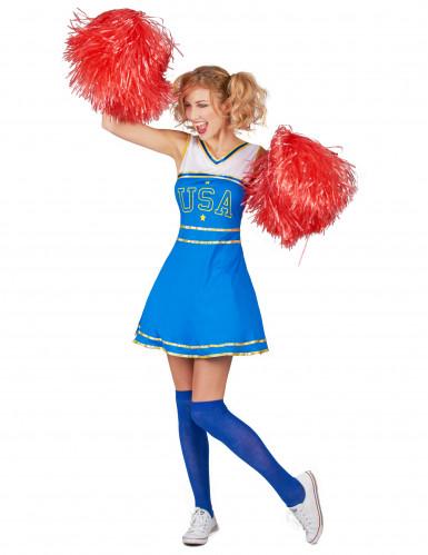 USA Cheerleader kostuum voor vrouwen -1