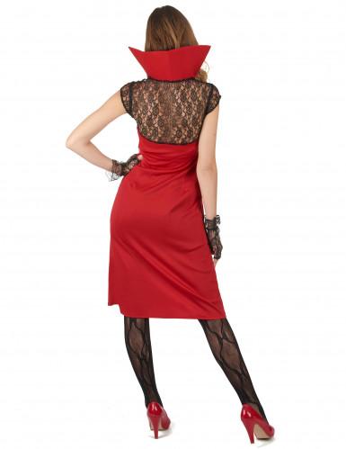 Sexy rood vampier kostuum voor vrouwen-1