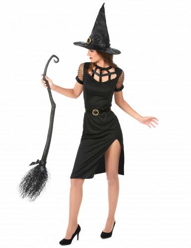 Sexy zwart heksen kostuum voor vrouwen-1