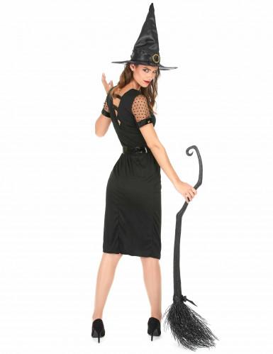 Sexy zwart heksen kostuum voor vrouwen-2