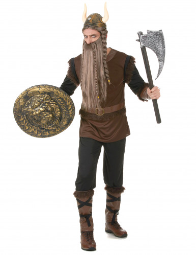 Bruin Viking kostuum voor mannen-1