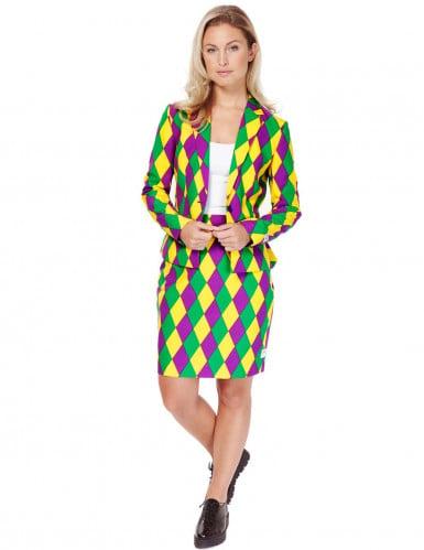 Mrs. Harlekijn Opposuits™ kostuum voor vrouwen