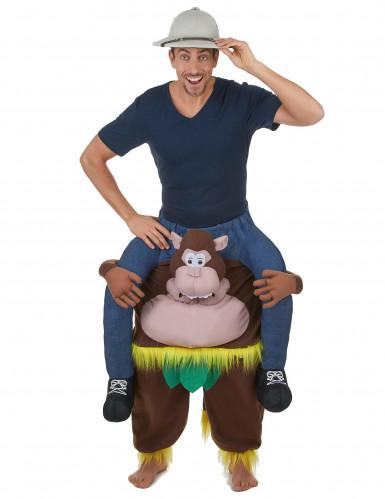 Op de rug van een aap kostuum voor volwassenen-1