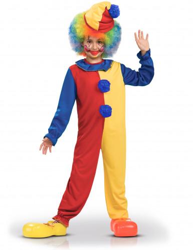 Tweekleurig clownskostuum voor kinderen