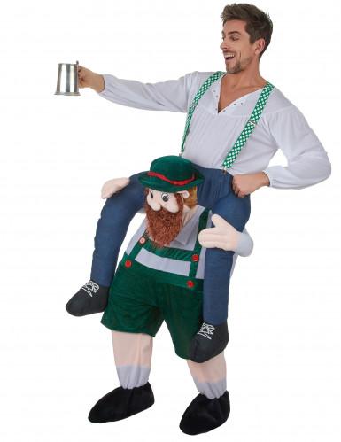 Man op rug van Tiroler kostuum voor volwassenen-1