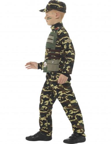 Militair camouflage uniform kostuum voor jongens-1
