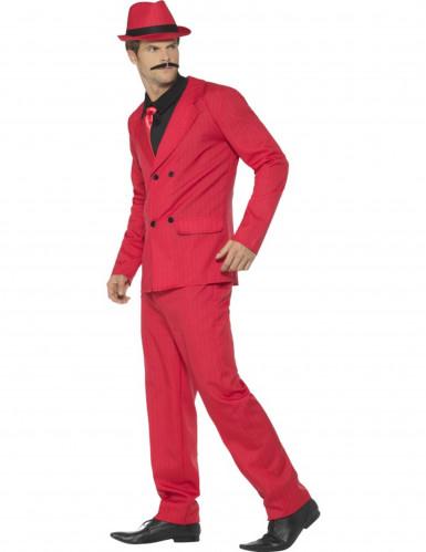 Rood gangster kostuum voor mannen-1