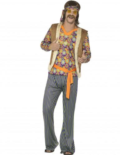 Jaren 60 hippie zanger kostuum voor mannen
