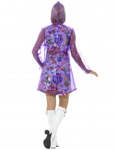 Paarse jaren 60 regenjas voor dames-2