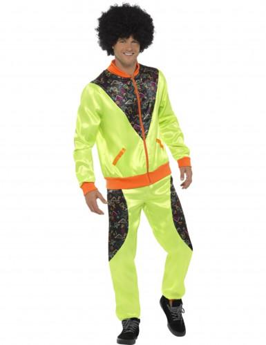 Groen retro joggingpak voor mannen