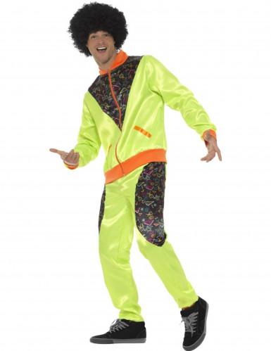 Groen retro joggingpak voor mannen-2