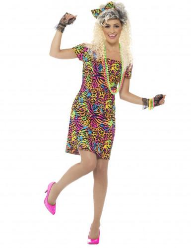 Jaren 80 fluo luipaard kostuum voor vrouwen-1