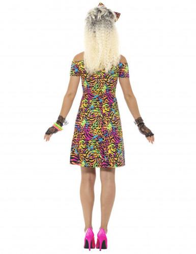 Jaren 80 fluo luipaard kostuum voor vrouwen-3
