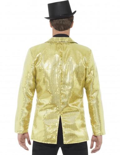 Luxe goudkleurige disco jasje met lovertjes voor mannen-1