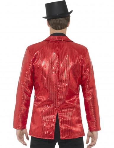 Luxe rood discojasje met lovertjes voor mannen-2