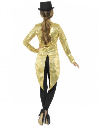 Goudkleurige lovertjes slipjas voor vrouwen-1