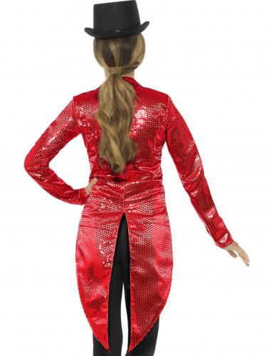 Rode slipjas met lovertjes voor vrouwen-1