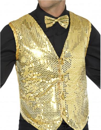 Goudkleurig jasje met lovertjes voor volwassenen