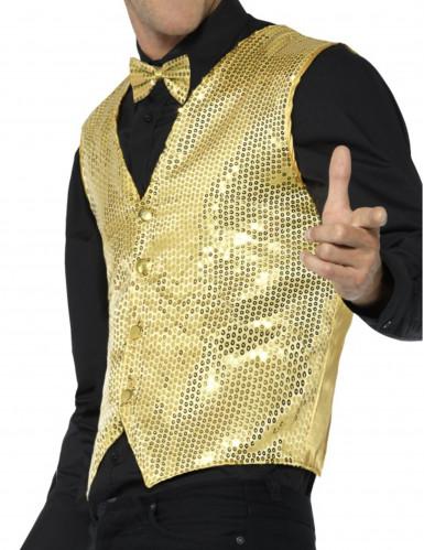 Goudkleurig jasje met lovertjes voor volwassenen-1
