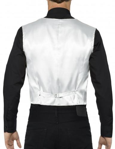 Zilverkleurig jasje met lovertjes voor volwassenen-1