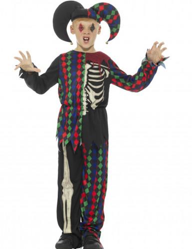 Skelet narren kostuum voor kinderen