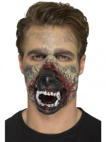 Latex weerwolf mond voor volwassenen-2