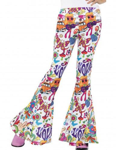 Jaren 60 hippie broek voor vrouwen