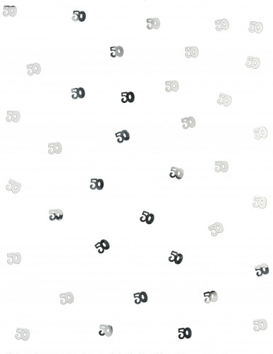 Tafelconfetti 50 jaar zilver-1