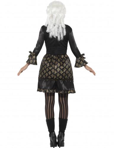 Zwart en goudkleurig barok kostuum voor vrouwen-1