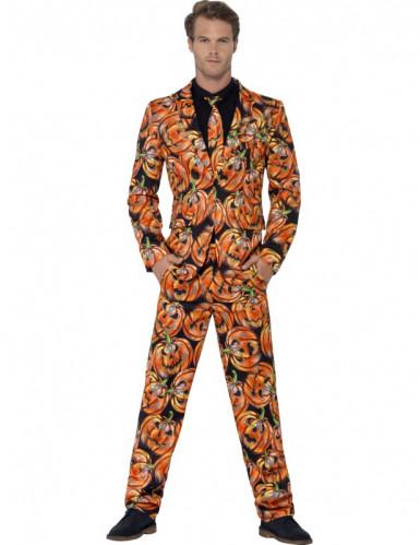 Mr. Scary pompoen kostuum voor mannen