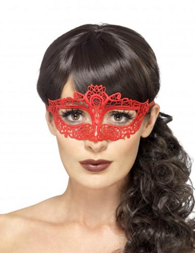 Rood kant masker voor vrouwen