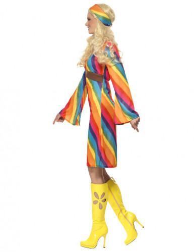 Regenboog hippie kostuum voor vrouwen-2