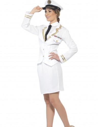 Wit officier kostuum voor vrouwen-1