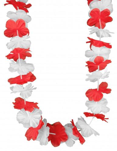 Rood-wit Hawaii ketting