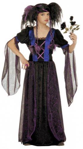 Zwart gothic vampier kostuum voor kinderen