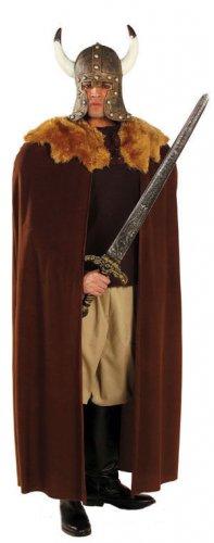 Luxe bruine viking cape voor volwassenen