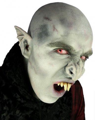 Grijze latex vampier neus