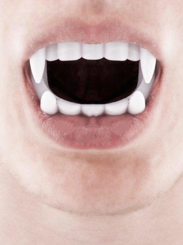 Witte vampier tanden