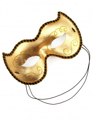 Gouden Venetiaans masker voor volwassenen-1