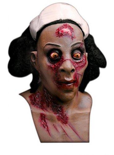 Zombie verpleegster masker voor volwassenen