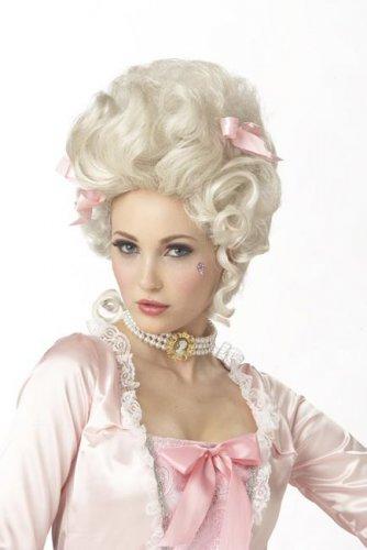 Lichtblonde Marie-Antoinette pruik voor volwassenen