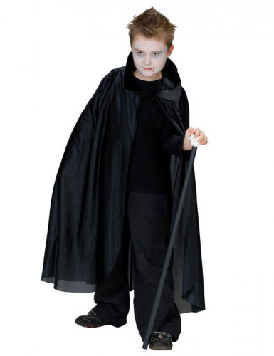 Zwarte vampier cape voor kinderen