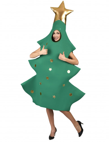 Kerstboom met piek kostuum voor volwassenen