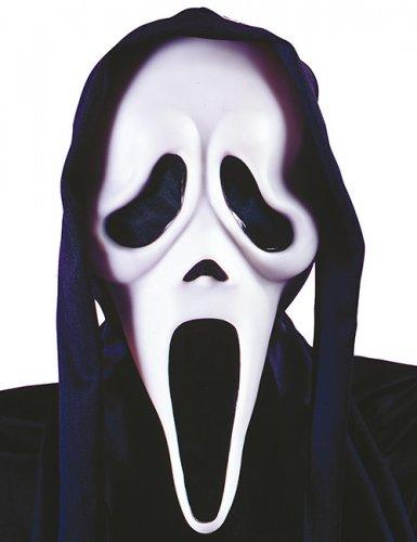 Zwart en wit Ghost Face™ spokenmasker voor volwassenen